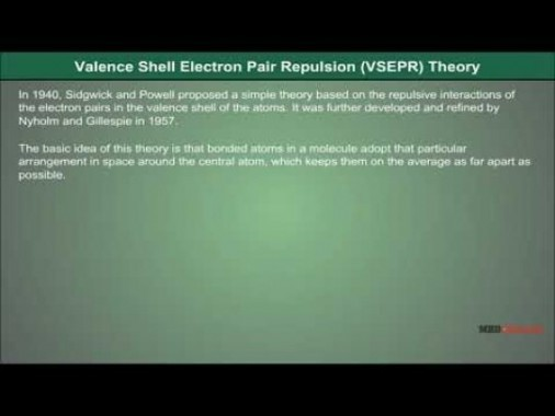 Class 11 Chemistry - Valence Shell Electron Pair Repulsion Theory Video by MBD Publishers
