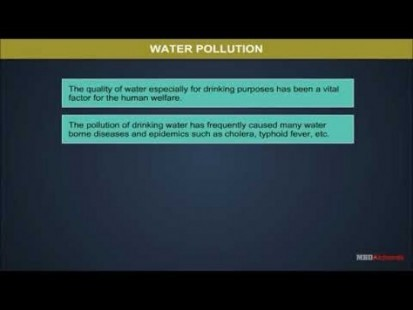 Class 11 Chemistry - Water Pollution Video by MBD Publishers